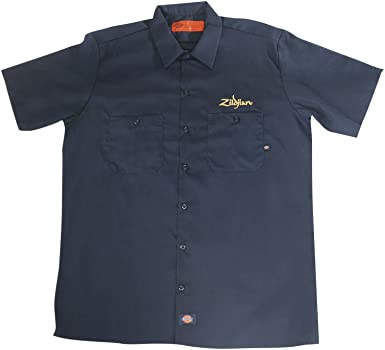 Zildjian Mens Dickies Work Shirt - Navy Blue - Size XL: Amazon.es: Instrumentos musicales