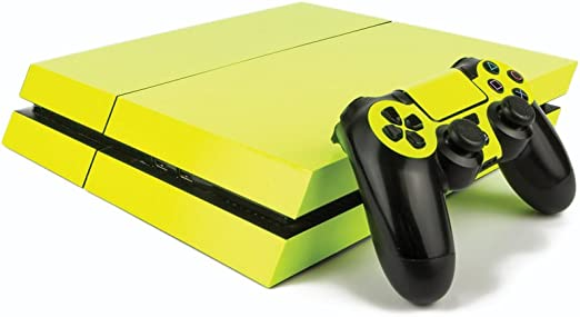 Premium PS4 PlayStation 4 Fluorescent Vinyl Wrap / Skin / Cover for PS4 Console and PS4 Controllers: Bright Yellow: Amazon.es: Hogar