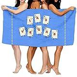 Funny Poker Viva Las Vegas! Towels Soft Natural Beach Bath Towel, 32 X 52 Inch
