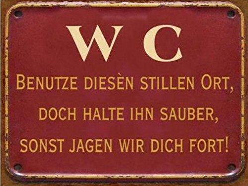 Bathrooms poster tin sign wc benutze diesen stillen ort for German made bathroom accessories