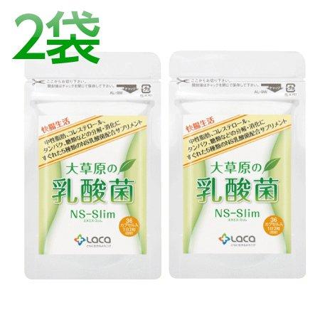 ラクア 大草原の乳酸菌 NS-Slim 36カプセル 2袋セット B074PL94TJ