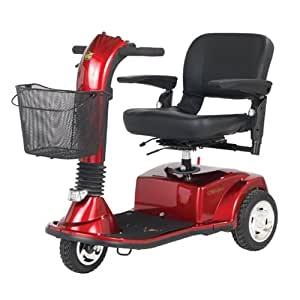 Golden Companion - Midsize 3 Wheel Scooter - Red