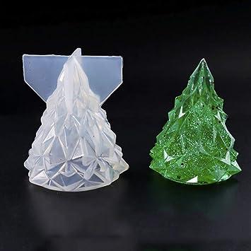 Ruby569y Moldes de silicona para arcilla de resina, árbol de Navidad, molde de silicona