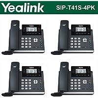 Yealink SIP-T41S 4-Pack IPPhone Gigabit Ethernet PoE Optima HD Voice