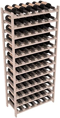 Wine Racks America Pine 72 Bottle Stackable. Grey Wash Stain Satin Finish