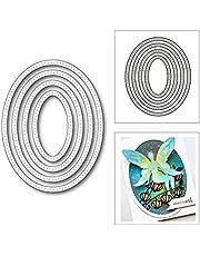 HLIAN Gevlekte ovale nestframe metalen snijden sterft voor diy scrapbooking kaart maken decoratieve embossing craft