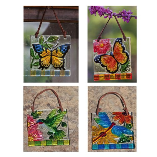 Pretty Nature Wall Plaques, Glass, cute spring wall art decor