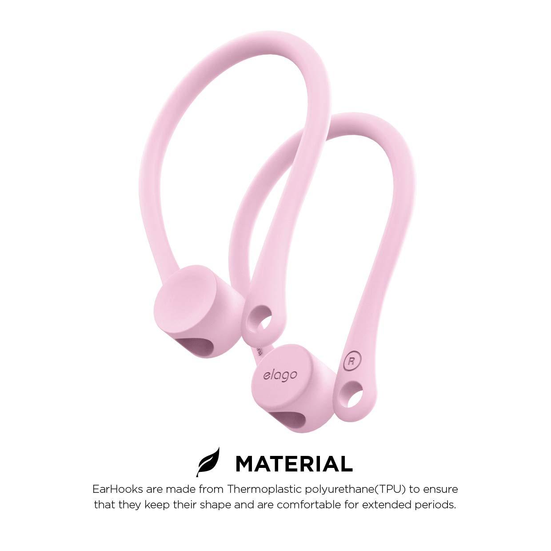 elago Gancho de Oreja Titular Compatible con Apple AirPods 1 /& 2 - - Lavanda TPU EarHooks Dise/ñado para La Actividad Agujero para Correa