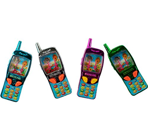 - Giggle Time Cell Phone Water Game Assortment - (12) Pieces - Assorted Colors - for Kids, Boys and Girls, Party Favors, Pinata Stuffers, Children's Gift Bags, Carnival Prizes