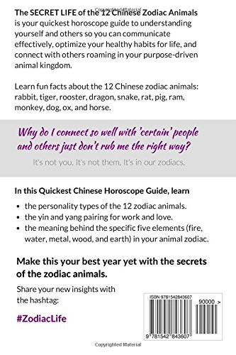 the secret life of the 12 chinese zodiac animals your quickest chinese horoscope guide to health life and love aviva lee 9781542843607 amazoncom - Chinese New Year Animals Meanings