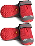 RUFFWEAR GRIP TREX DOG BOOTS ALL TERRAIN PAW PROTECTION ALL SIZES & COLORS SET OF 4 (2.5-Inch, New Red Currant)