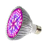 Attaljus 50W LED Grow Light Bulb, 78 LEDs Full Spectrum Plant Bulbs Growing Lights for Indoor Plants Vegetables, Flowers, Seedlings, Hydroponics, Indoor Garden, Greenhouse and Organic Soil (E27 Base)