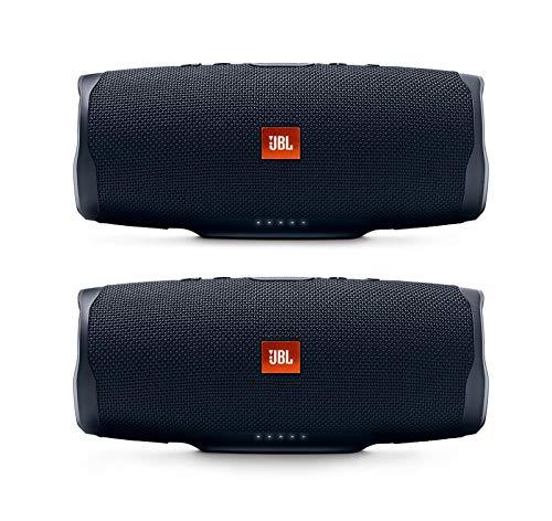JBL Charge 4 Portable Waterproof Wireless Bluetooth Speaker Bundle – Pair Black