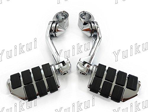YUIKUI RACING オートバイ汎用 1-1/4インチ/32mmエンジンガードのパイプ径に対応 ロングタイプ ハイウェイフットペグ タンデムペグ ステップ HONDA VTX 1800C/F/N/R(RETRO)/S/T(TOURER) 2002-2008等適用   B07PLWLW92
