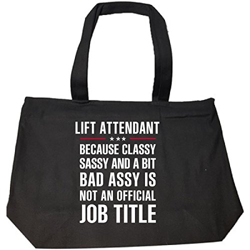 Gift For Classy Sassy Bad Assy Lift Attendant - Tote Bag With Zip (Handle Assy Lift)