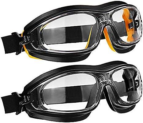 GILH - Gafas de seguridad para el trabajo (resistente al viento, a los golpes, a los agentes químicos, con pintura en aerosol, protección para los ojos)