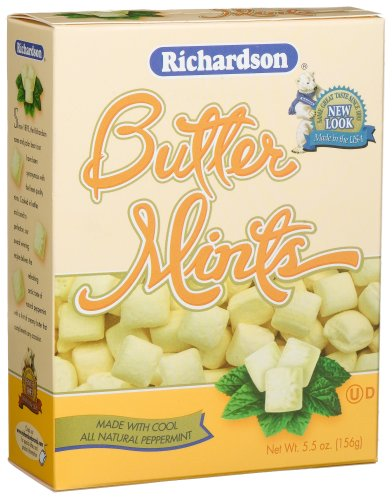Richardson Butter Mints, 5.5-Ounce Boxes (Pack of 12)