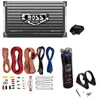 Boss AR1500M 1500W MONO Car Amplifier + Remote + 2.2 Farad Capacitor + Amp Kit
