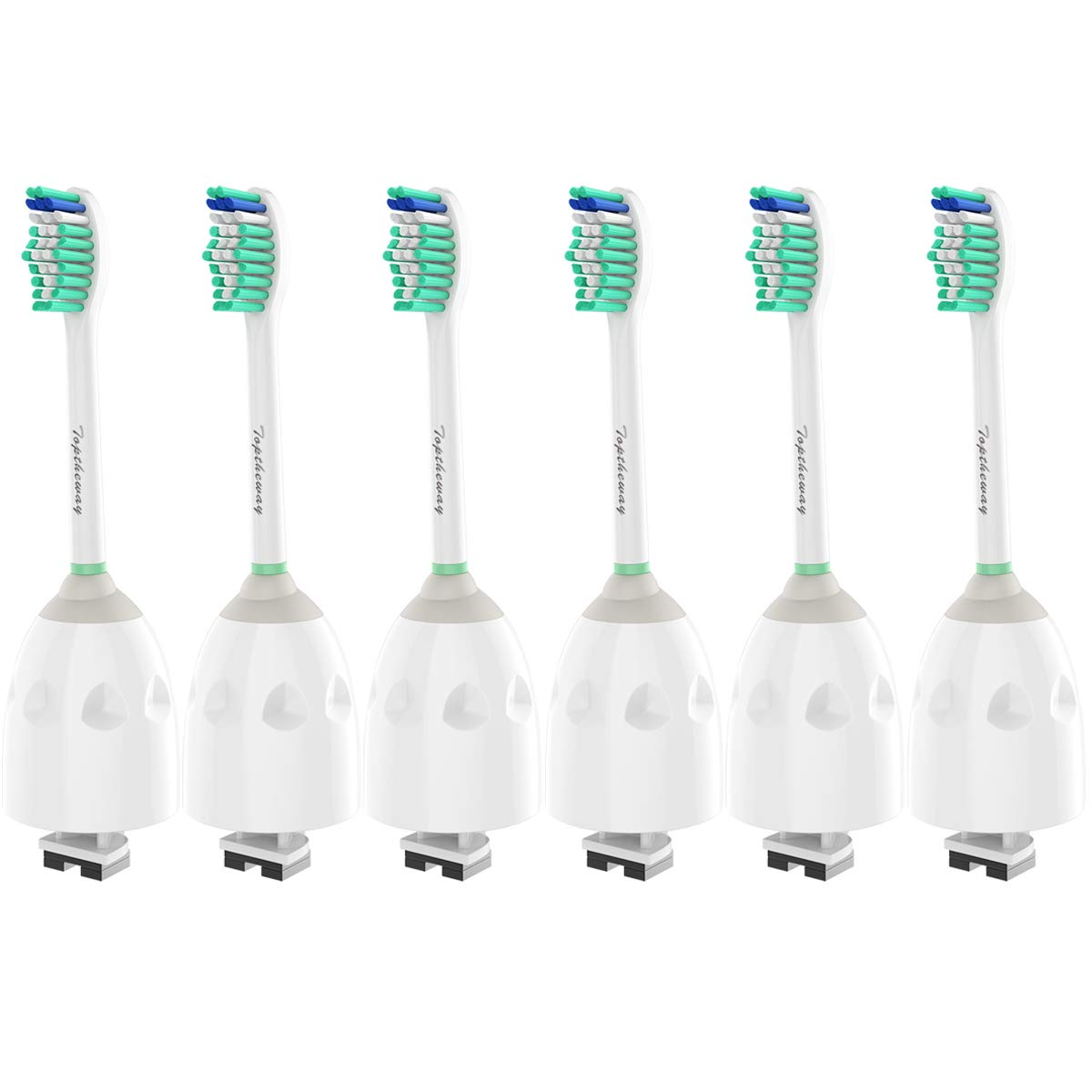 Replacement Brush Heads for Philips Sonicare E-Series Toothbrush HX7022/66, Fit Sonicare Essence, Xtreme, Elite, Advance and CleanCare Screw-On Philips Handles, 6 Pack by Toptheway by Toptheway (Image #2)