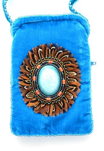 Di O Vetro Iphone Turchese Telefono Disegno ball Seta Borsa Porcellana Per Penne Velluto E Blu Bicchieri In Il E0q0n8vB