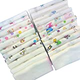 Sweet layette Baby Washcloths, reusable wipes, Muslin Warm Bath Towels for shower gift - 30 pcs Baby handkerchief
