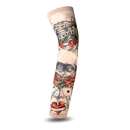 Ice Sleeve Mens Tattoo Sleeve Flower Arms Cool Driving Sun Sleeve