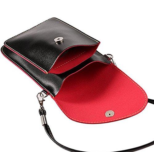 Shoulder Black Pouch Crossbody Bag Women Small Leather Handbag Cellphon YaJaMa XA7qw
