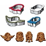 Star Wars Cookie Cutter, Darth Vader, Yoda, Storm Trooper, R2D2 (Set of 4)