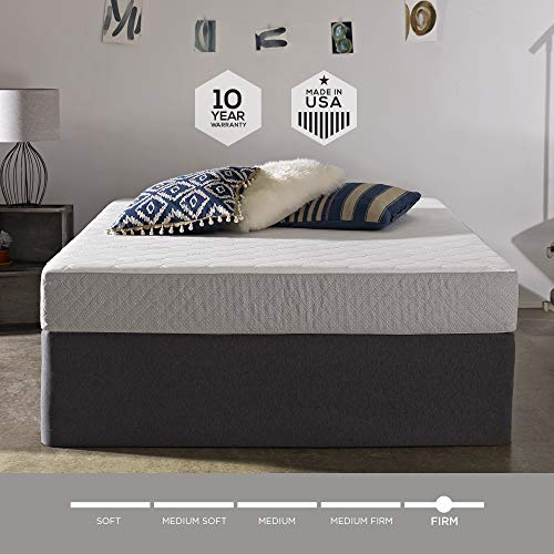 (Sleep Innovations Sage 8-inch Cooling Gel Memory Foam Mattress, Bed in a Box, Made in The USA, 20-Year Warranty, Queen)