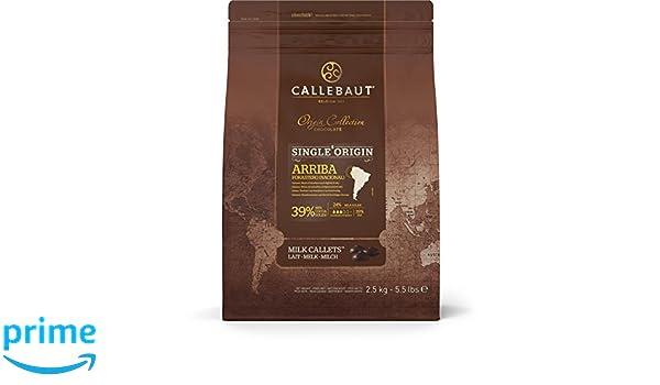 Callebaut Origen, Arriba 39% chips de chocolate con leche 2.5kg: Amazon.es: Alimentación y bebidas