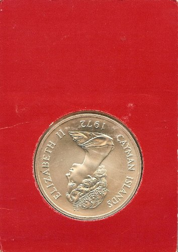 1972 CAYMAN ISLANDS $25 SEALED STERLING SPECIMEN UNCIRCLUATED-FREE USA SHIPPING!