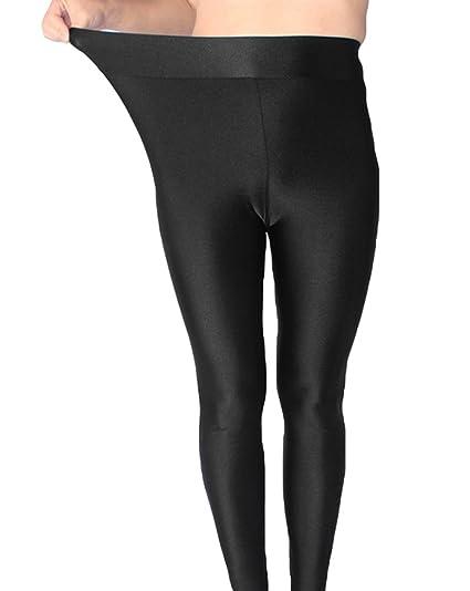 Accesorios Brillantes Negro es Ropa Amazon Grande 3xl Pantalones Leggings Delgado Cn Elásticos Talla Y Mujer Yiiquan gY8ZqwRT
