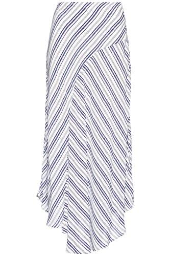FIND Bleu Raye Blue White Jupe Femme Longue PqSwPBr