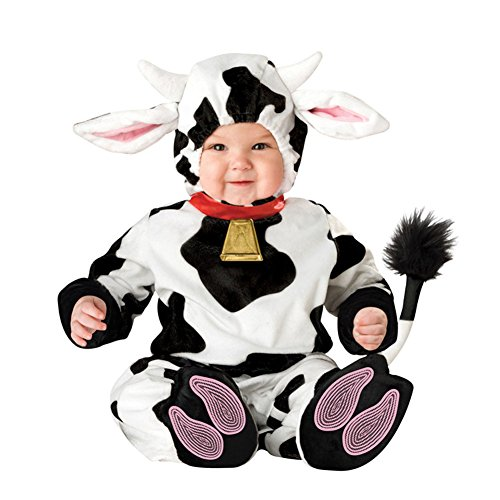 Bowith Boys Girls Baby Rompers Babygrow Halloween Outfit Animal Infant Toddler Costume Cows 12M