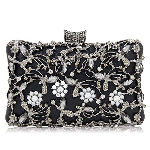 Chain Bag Long Accessory Blue Bag Black Shoulder Hollow Ladies Strap Handbag Diamond Color Evening Design Party ZHRUI Clutch nUqOvyc