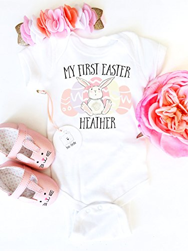 Boo birdie buy boo birdie products online in uae dubai abu personalized my first easter baby easter shirt easter bunny shirt easter bunny onesie baby girl easter outfit easter baby gift personalized onesie negle Choice Image