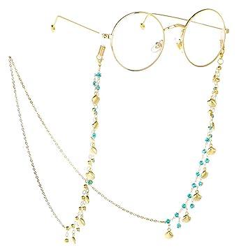 Amazon.com: Yantu - Gafas de sol con cadena de cristal ...