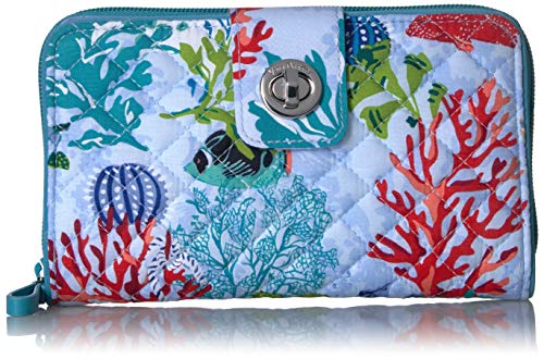 Vera Bradley Iconic RFID Turnlock Wallet, Signature Cotton, Shore Thing