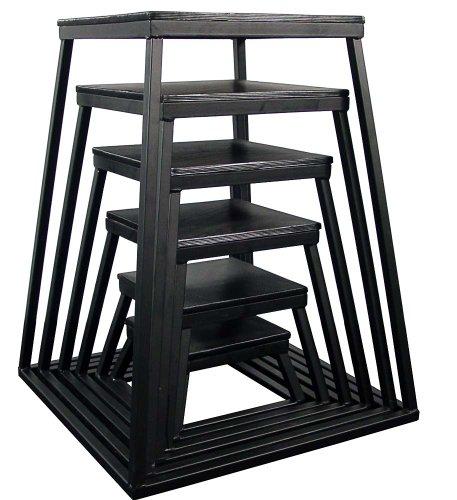 Black Plyometric Platform Box (6''-42'' 7 Pcs Black) by Ader Sports (Image #1)