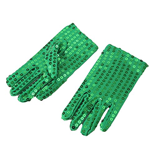 Ztl Child Sparkling Sequin Gloves Michael Jackson Costume Gloves for Party Dance