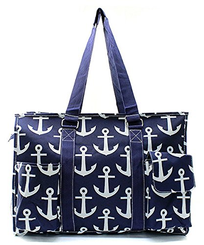 Shopping Canvas Tote Print Anchor Bag Travel Utility Multipurpose Nautical SxvU17qw