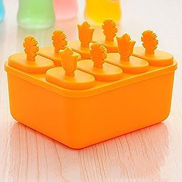 Zhuhaimei,Cuadrados de plastico para helados congelados Herramienta Paleta Maker cocina DIY molde(color:Mandarin): Amazon.es: Hogar
