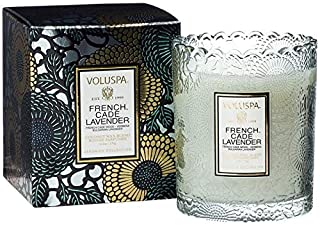 product image for Voluspa French Cade Lavender Scalloped Edge Boxed Glass Candle, 6.2 Ounces