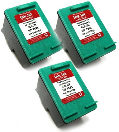 HouseOfToners Remanufactured Ink Cartridge Replacement for HP 75XL CB338WN (3 Color, 3-Pack)