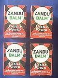 4 X Zandu Balm Ultra Power Balm Multipurpose Solution for Strong Headache Body Ache and Cold 8ml X 4 Pack by Zandu