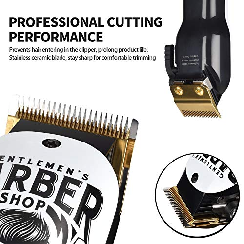 BESTBOMG Updated Version Professional Hair Clippers Cordless Haircut Kit Rechargeable 2000mAh Hair Beard Trimmer Haircut Grooming Kit with 6 Guide Combs & for Men/Father/Husband/Boyfriend