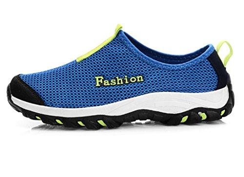 Phifa Heren Atletische Loopschoenen Slip On Mesh Upper Sneaker (clearance) Blauw