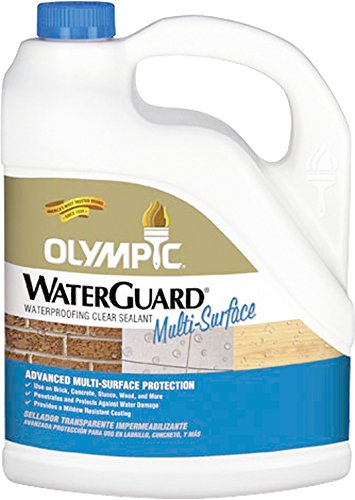 Olympic Stain 55548A-05 WaterGuard Multi-Surface Waterproofing Sealant, 5 Gallons, Clear