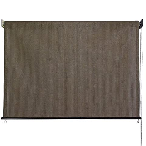 Outdoor Roller Sun Shade, 8-Feet by 6-Feet, Cabo Sand (Screen Porch Systems)