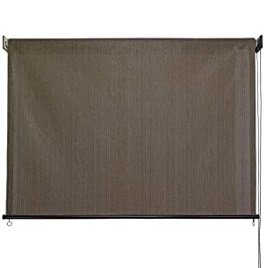 outdoor roller sun shade 8feet by 6feet cabo sand